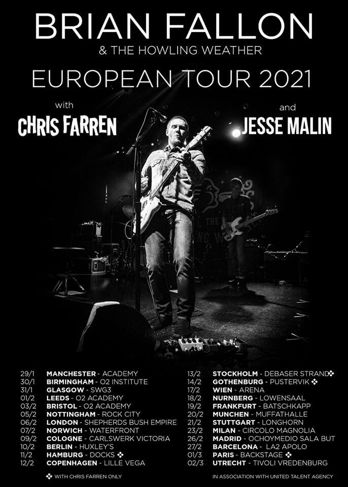 Brian Fallon european tour 2021
